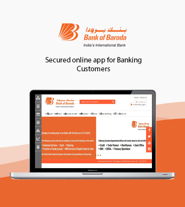 Bank of Baroda Online Web Application